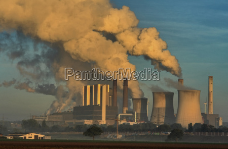 power station cooling tower water vapor