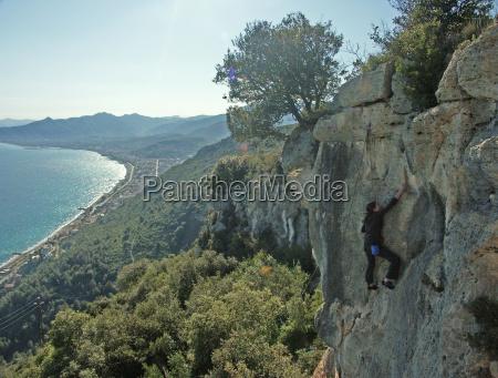 climbing with sea views final ligure