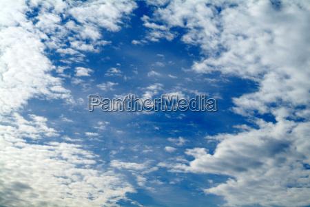 blue cloudy sky