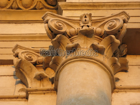 historical church pillar facade style of