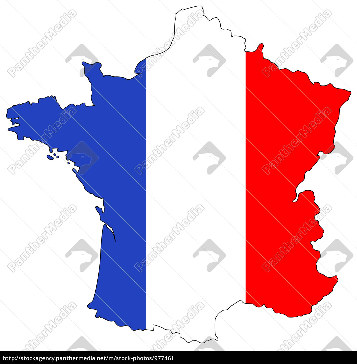 map, of, france, in, national, colors - 977461