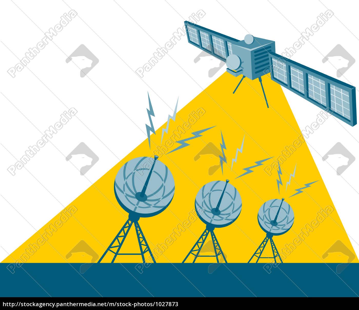 satellite, sending, signal - 1027873