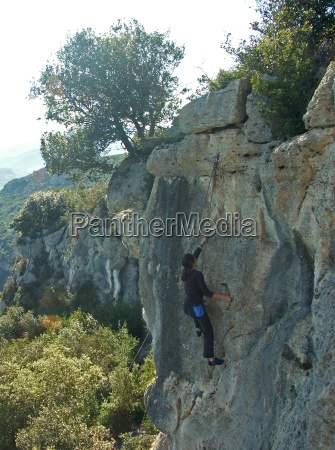 woman rise climb climbing ascend uphill