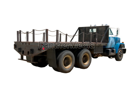 flat bed truck rear isolated