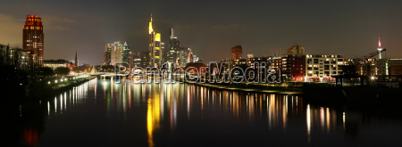 skyline panorama by night