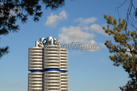 bmw building with frame