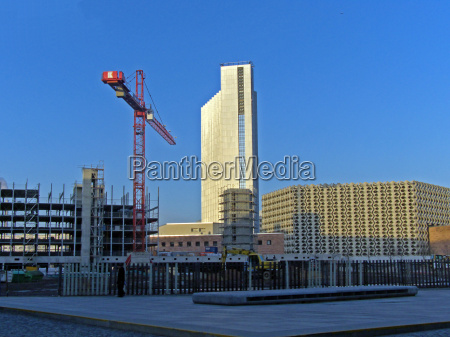 construction site with crane in the