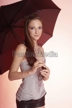 woman with umbrella