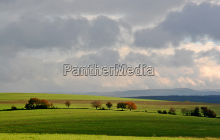 light and shadow on fields and