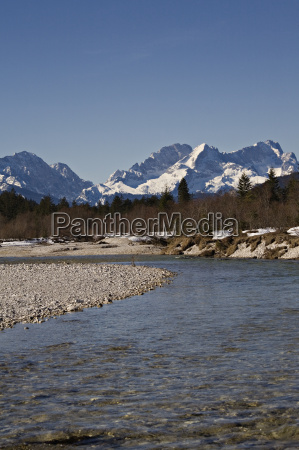 isar with zugspitze