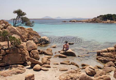 secluded cove on the costa smeralda