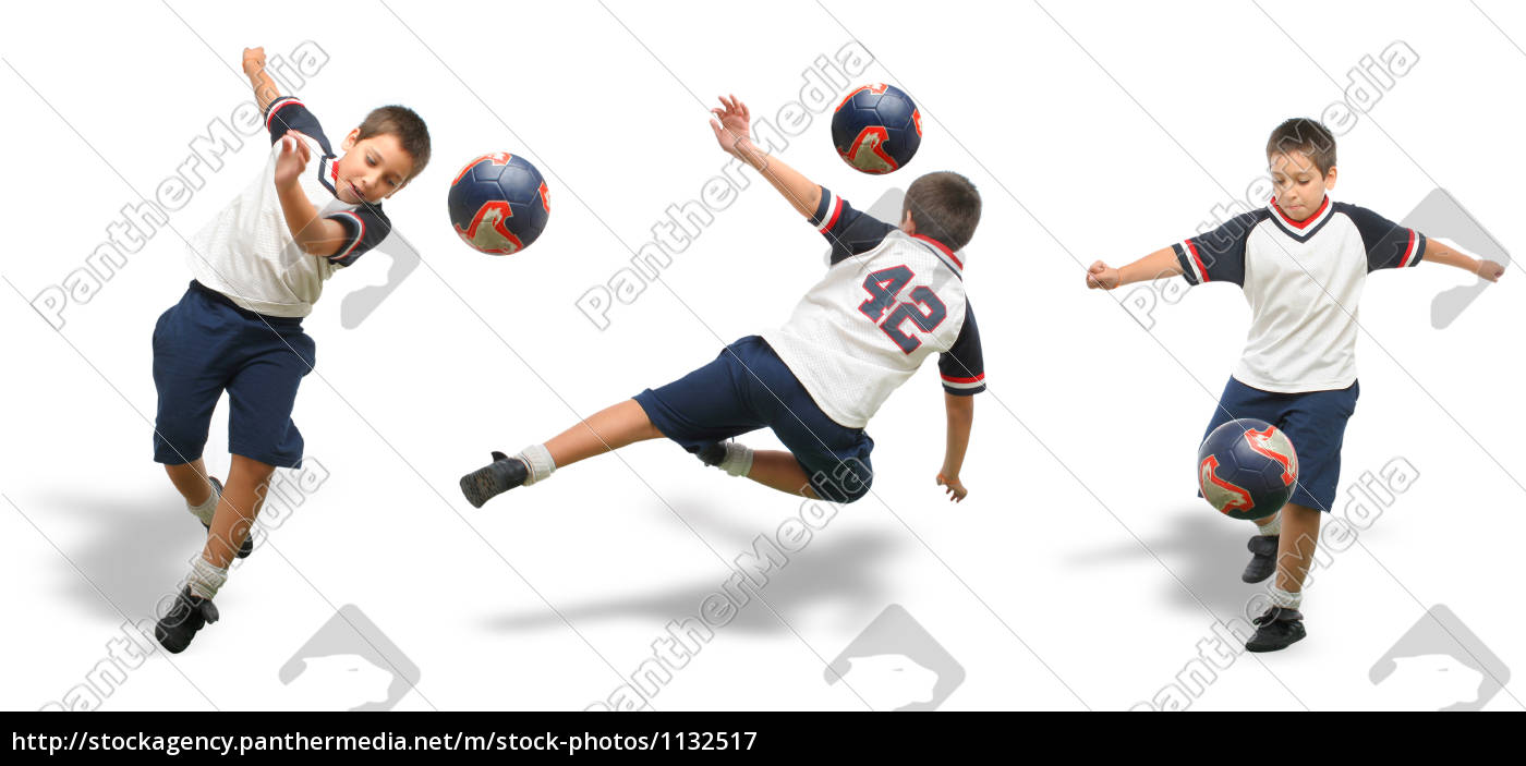 kid, playing, soccer, isolated, - 1132517