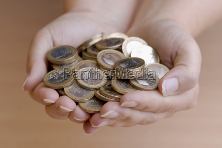handful of coins