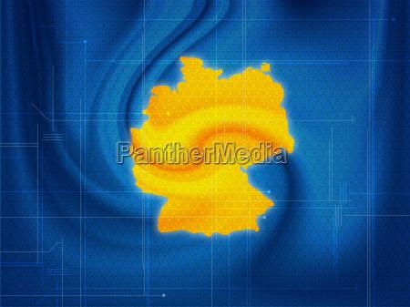 germany map techno