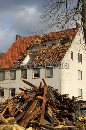 hurricane damage in steinfurt