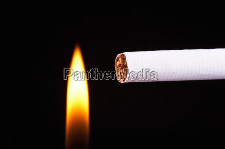 light a cigarette
