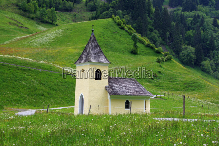 chapel in the alps