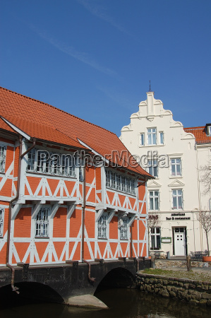 half timbered house on the vault