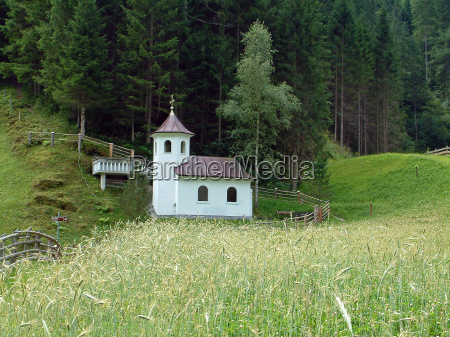 church alps chapel summer summerly meadow
