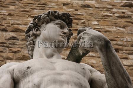 sculpture david by michelangelo detail