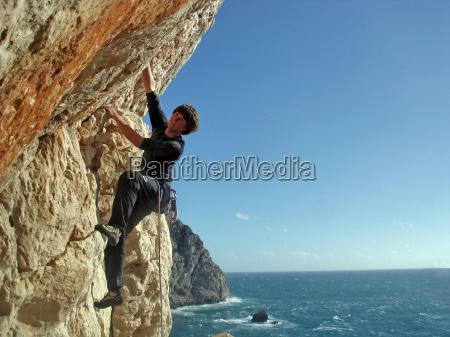 rock sportsman coast rise climb climbing