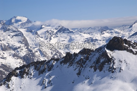 snowed mountainrange