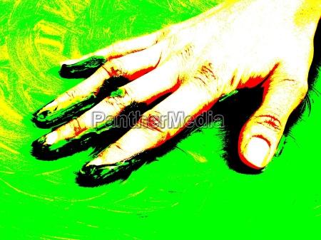 hand finger green fresh nature