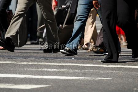 pedestrians on the zebras trefen