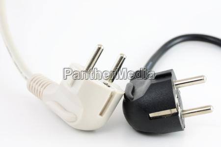 black, and, white, plug - 1244005