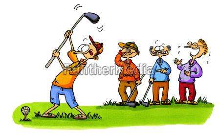golf cartoons 1 beginners