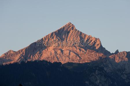 alpspitze in the evening light
