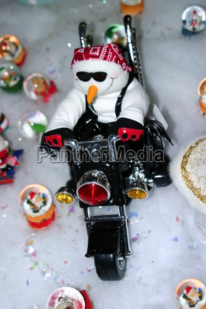 motorcycle snowman