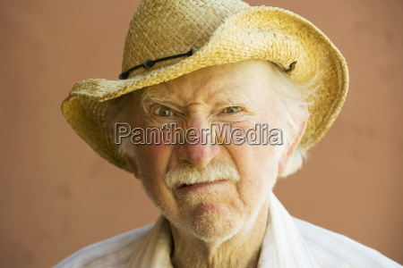 senior citizen man in a cowboy