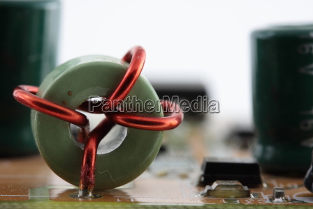 inductor with red wire