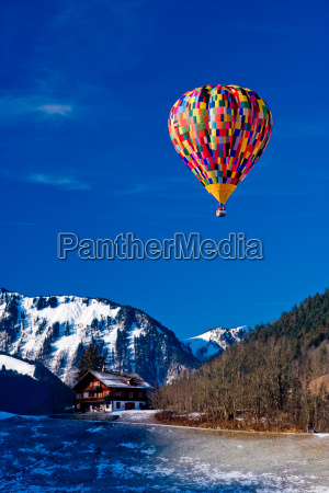 air, balloon, over, the, alps, vaud, switzerland - 1306263