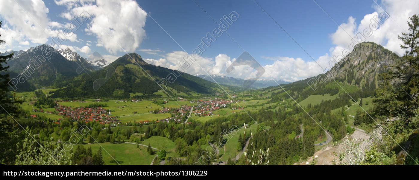 hindelang, panorama - 1306229