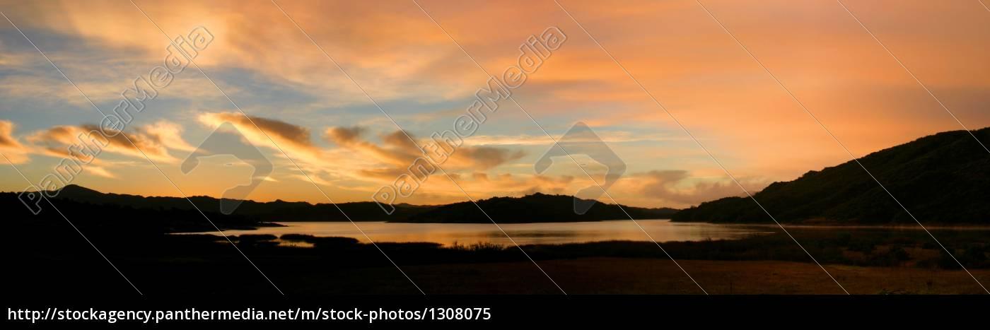 lake, casitas, sunrise - 1308075