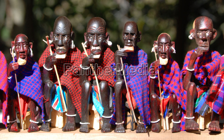 maasai, figures, on, local, market - 1308061