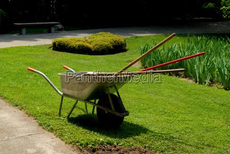 garden, wheelbarrow - 1312213