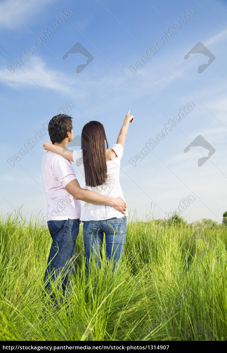 woman, togetherness, love, in love, fell in love, meadow - 1314907