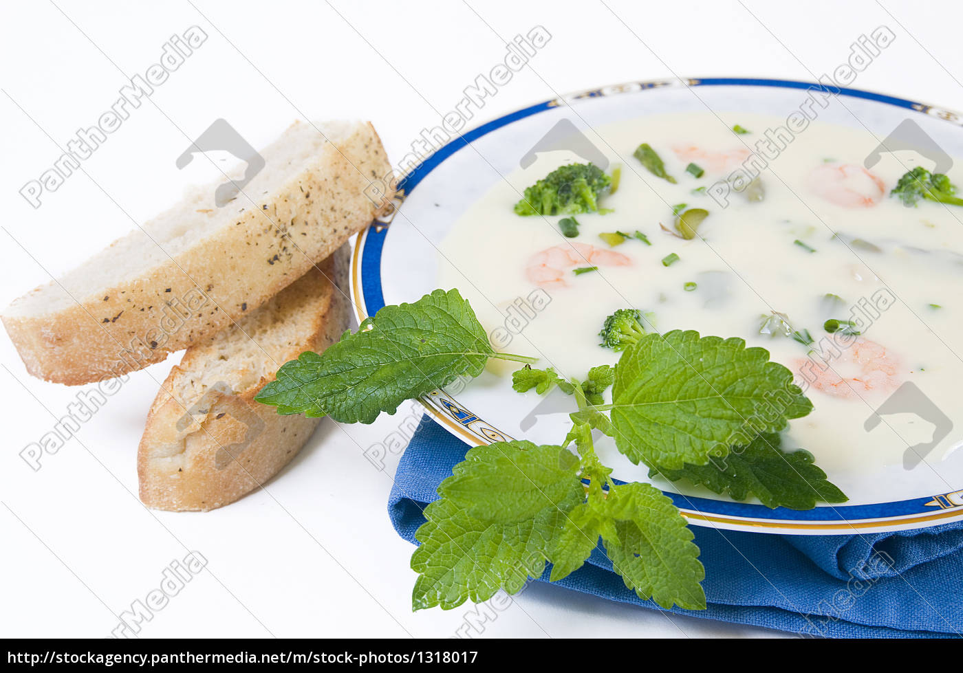 asparagus, cream, soup, with, broccoli, and - 1318017