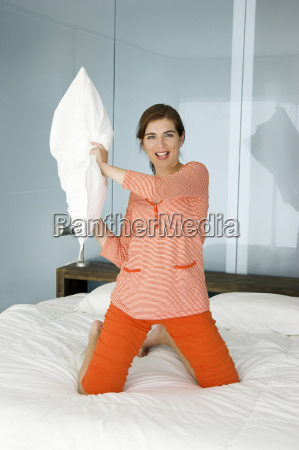 throwing, a, pillow, - 1321529