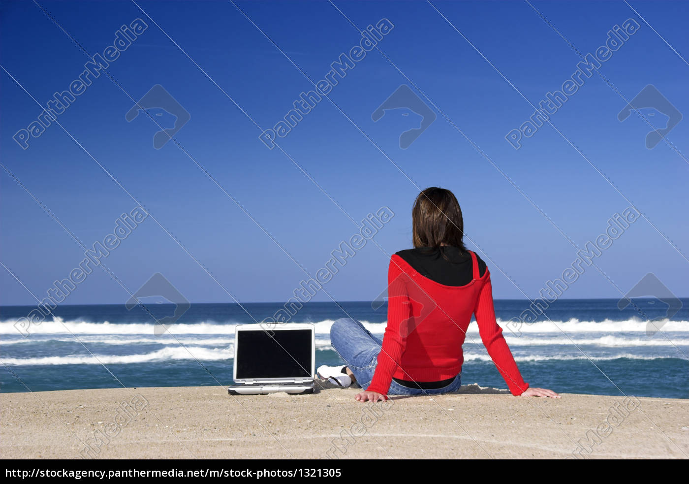 woman, working, with, a, laptop, on - 1321305