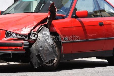 road accident car body damage auto