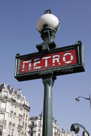 paris, metro, sign - 1325039