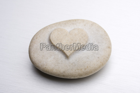 heart shaped engraved stone