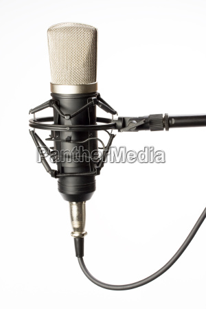 studio, microphone, on, a, white, background - 1331181