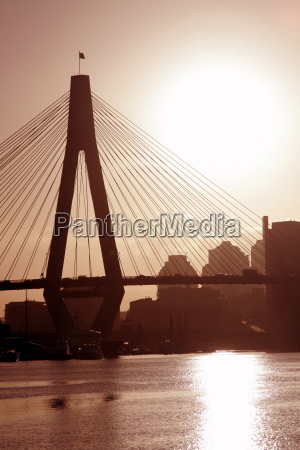 anzac, bridge, in, evening, light - 1332117