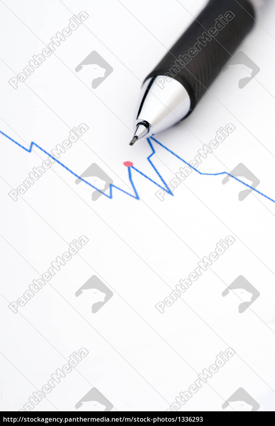 pencil, on, a, stock, chart - 1336293