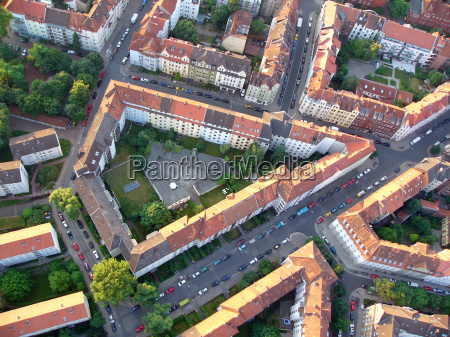 residential area from a birds eye
